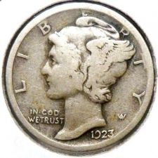 Buy 1923 Silver Mercury Dime