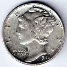 Buy 1945 Brilliant Uncirculated Mercury Dime