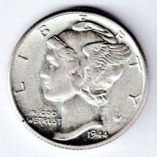 Buy 1944 Lustrous Gem BU Mercury Dime