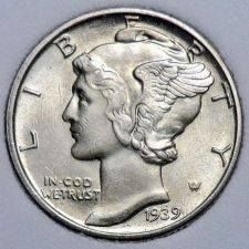 Buy 1939-P Brilliant Uncirculated Mercury Dime