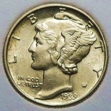 Buy 1939 Brilliant Uncirculated Mercury Dime