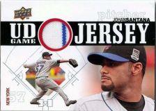 Buy 2010 Upper Deck UD Game Jersey #JS Johan Santana Card