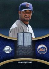 Buy 2008 Sweet Spot Johan Santana Jersey Card #SS-JS Sweet Swatch, Grey Striped