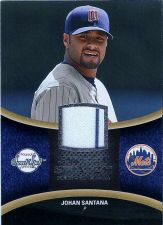 Buy 2008 Sweet Spot Johan Santana Jersey Card #SS-JS Sweet Swatch, White Striped