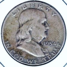 Buy 1954-D Silver Franklin Half Dollar