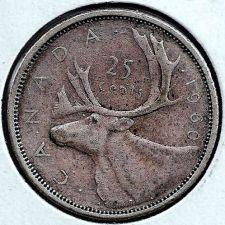 Buy 1960 80% Silver Canadian Quarter