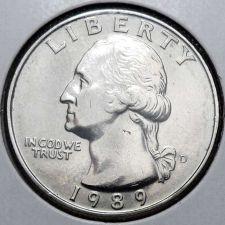 Buy 1989 D Uncirculated Washington Quarter BU