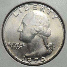 Buy 1970 D Uncirculated Washington Quarter BU