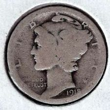 Buy 1918 Mercury Dime