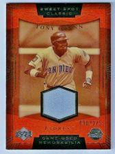 Buy 2004 Upper Deck Sweet Spot Classic SS-TG Tony Gwynn GU Jersey (090/275)