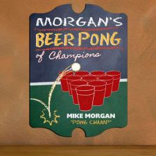 Buy Vintage Beer Pong Sign - Free Personalization