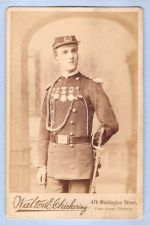 Buy Massachusetts Boston Cabinet Card Gentleman posing in dress uniform of The~1