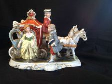 Buy antique porcelain German Carriage. With mark