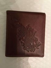 Buy Lot Of 2- Mens quality Leather Wallets Dragon Design #2 Fast Free Shipping