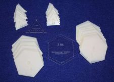 "Buy Mylar 3"" Hexagon-1.5"" E- Triangle 102 Piece Set - Quilt / Sew Templates -"