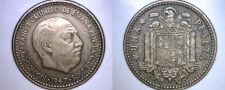 Buy 1947 (54) Spanish 1 Peseta World Coin - Spain Caudillo