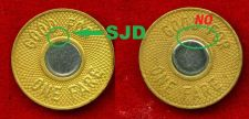 "Buy SUBWAY METRO NYC Transit ""Bullseye"" Token.1986.Set of 2 including SJD.***"