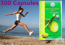 Buy Noni 300 Capsule Organic Indian Mulberry Immune Detox Diabete Cholesterol Brain