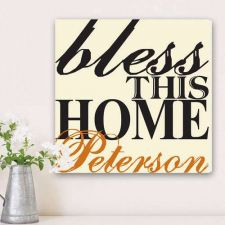 Buy Blessing of the Home Family Canvas Print - Free Personalization