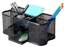 Buy Desk Holder Organizer Mesh Office Home Clutter Pen Clips Cup Writing Instruments
