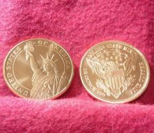 Buy 1 Coin Statue of Liberty Design one half of aoz each .999 Copper Bullion