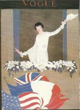 Buy Vogue 1918 Cover Print Lady Flags Window Plants Art Deco 1984 original print