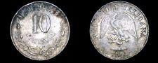 Buy 1904-Mo M Mexican 10 Centavo World Silver Coin - Mexico