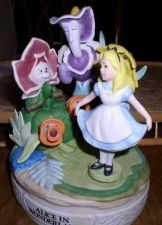 Buy Disney Alice in wonderland and the flowers Music Box