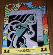 Buy Futurama Bender Cubicle Tin Sign - Bend With Care