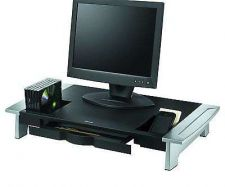 Buy Office Computer Furniture Desk Drawers Coffee CD DVD Monitor Riser, Black New