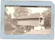Buy New York Cambridge Covered Bridge Postcard Owl Kill Bridge Real Photo Post~1065