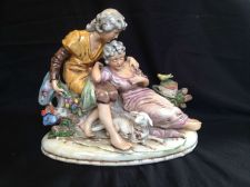 Buy antique large Dresden figurine group. With marks.