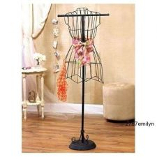 Buy Vintage Dress Form Mannequin Clothing Designer Wire Dress Stand Hanger Decor