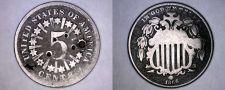 Buy 1866 Shield Nickel - Rays - Hole Marked