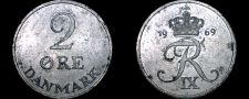 Buy 1969 Danish 2 Ore World Coin - Denmark