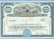 Buy New York na Stock Certificate Company: Phelps Dodge Corporation ~56