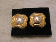 Buy Sarah Coventry Jewelry..Broadcast button clip-on earrings (Reflection clip)#1139