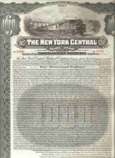 Buy New York New York City Stock Certificate Company: New York Central Railroa~110