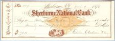 Buy New York Shelburne Cancelled Check Shelburne National Bank Check #147 Date~48