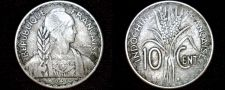 Buy 1941-S French Indo-China 10 Cent World Coin - Vietnam