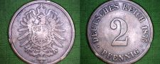 Buy 1875 C German 2 Pfennig World Coin - Germany