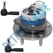Buy 3 pc Set: LH or RH Wheel Hub and Bearing Assembly w/ ABS + 2 Outer Tie Rod Ends