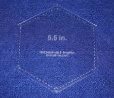 """Buy Laser Cut Quilt Templates- 5.5 Inch Hexagon w/Seam- 6"""" Actual Overall - 1/8"""""""