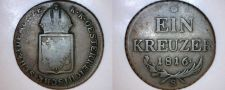 Buy 1816-S Austrian 1 Kreuzer World Coin - Austria