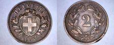 Buy 1936-B Swiss 2 Rappen World Coin - Switzerland