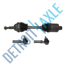 Buy 3 Piece Kit Set - Front Passenger Side CV Axle Shaft + 2 NEW Outer Tie Rods