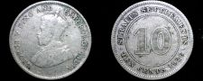 Buy 1926 Straits Settlements 10 Cent World Silver Coin - British East India Company