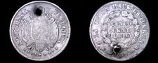 Buy 1872-PTS FE Bolivian 5 Centavo World Silver Coin - Bolivia - Holed