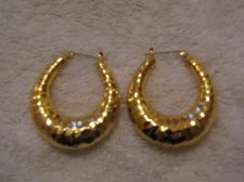 Buy Sarah Coventry Jewelry..Hammered hoop earrings (Athena Wire) # 1146