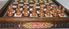 Buy Franklin Mint Coca-Cola Stained Glass Chess Set Accented with 24K gold with boxF
